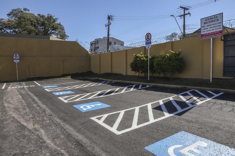 SmartPark São Francisco, estacionamento inteligente passa a funcionar onde era a antiga Sociedade Operário. Curitiba, 02/07/2021. Foto: Hully Paiva/SMCS