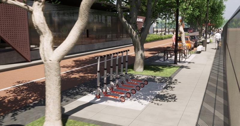 As novas estações terão autossustentabilidade energética e servirão como polos de integração intermodal com a mobilidade ativa e compartilhada. Ilustração: IPPUC