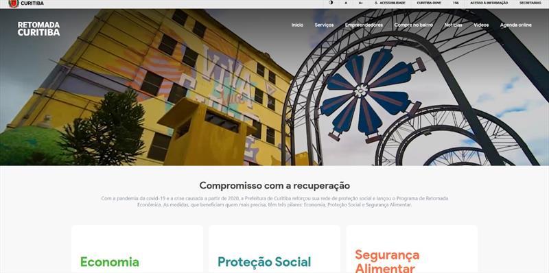 Portal Retomada Curitiba reúne ações do município em apoio ao cidadão