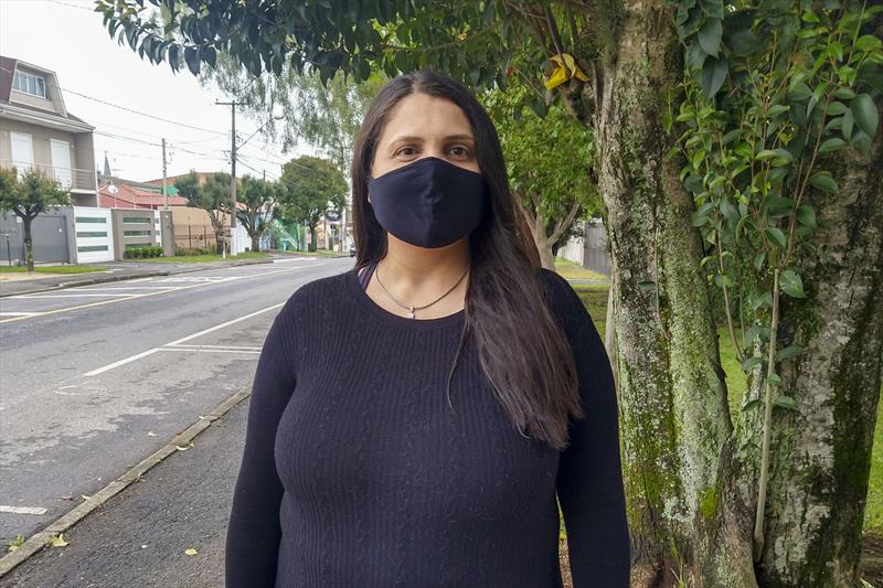Fernanda da Rocha vai começar a cursar medicina em uma universidade de Curitiba. Curitiba, 07/10/2021. Foto: Hully Paiva/SMCS