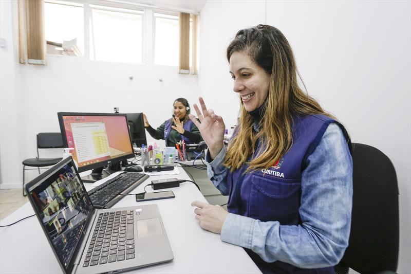Projeto Conversação em Libras (Língua Brasileira de Sinais), foi classificado para a etapa final do prêmio Zero Project 2022, da Áustria. Curitiba, 14/10/2021. Foto: Ricardo Marajó / SMCS