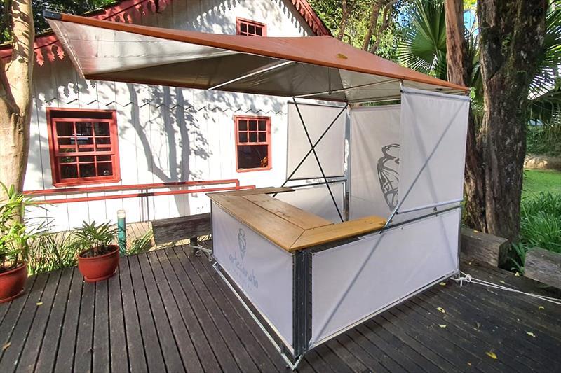 Protótipo da nova barraca para a Feirinha do Largo da Ordem. Foto: Divulgação/Ippuc