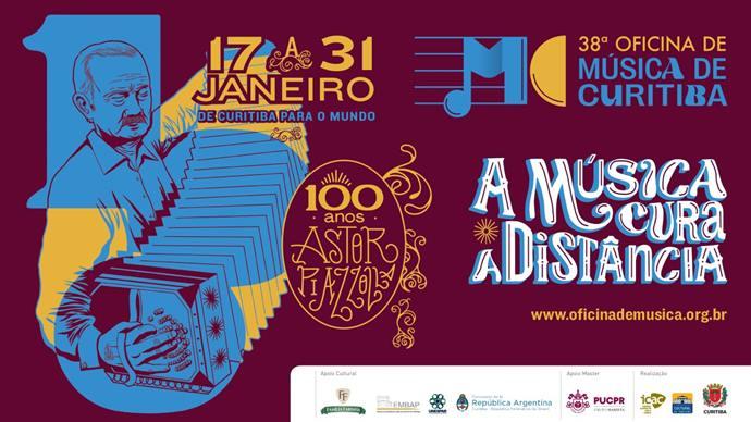 Prorrogadas as inscrições para a 38ª Oficina de Música de Curitiba.