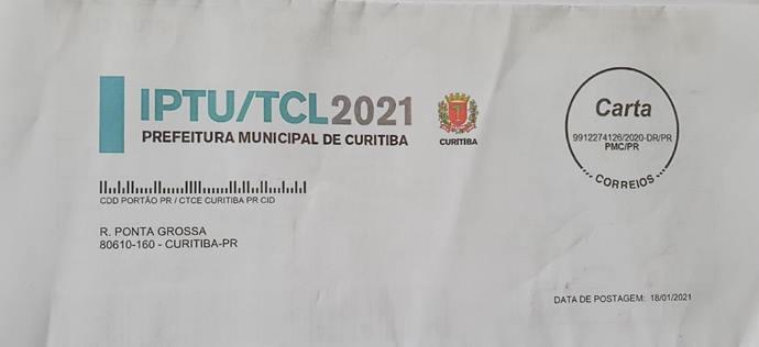 60% das cartas do IPTU 2021 já foram entregues; vencimento é em fevereiro. Foto: Divulgação